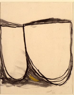 Drawing (Black and Ochre), 1961 By Roger Hilton