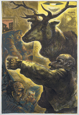 The Stag, 1986 By Peter Howson