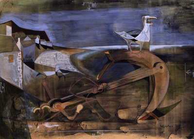 Foreshore with Gulls, 1949