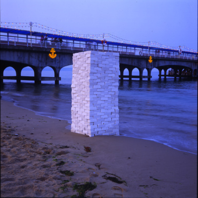 Into the Blue, 1993 (installation view, Bournemouth Beach)