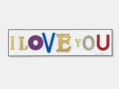 I Love You (in homage to Jack Pierson), 2013