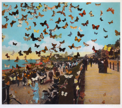 The Butterfly Man - Eastbourne (in homage to Damien Hirst), ...
