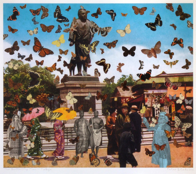 The Butterfly Man - Tokyo (in homage to Damien Hirst), 2010