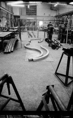 Fabrication of 'Let's Not be Stupid' by Richard Deacon, 1990