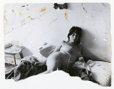 Henrietta Moraes Lying Naked on a Bed, c.1963