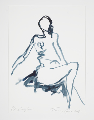 Up Straight, 2014 By Tracey Emin