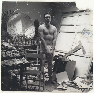 George Dyer in Underwear in Francis Bacon's Studio, c.1965