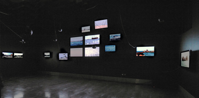 Floating Coffins, 2009 (View of the exhibition 'New Art Exch...