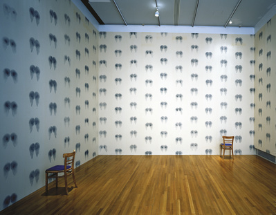 Bottom Wallpaper (Blue), Inked Chairs, 1992-97  By Abigail Lane