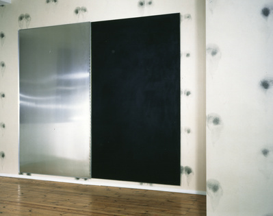 Bottom Wallpaper (Black), Black Ink Pad, 1992-97  By Abigail Lane