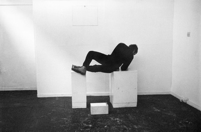 Pose Work for Plinths, 1971 (detail) By Bruce McLean