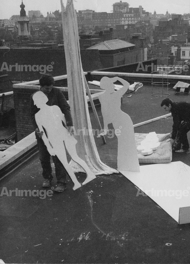 Mary Waving Goodbye to the Trains, Performance for Street and Roof, St Martins School of Art, London, 1965