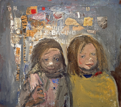 Children and Chalked Wall 3, 1962-63