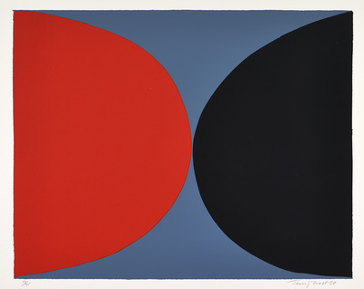 Red and Black on Grey, 1968 By Terry Frost