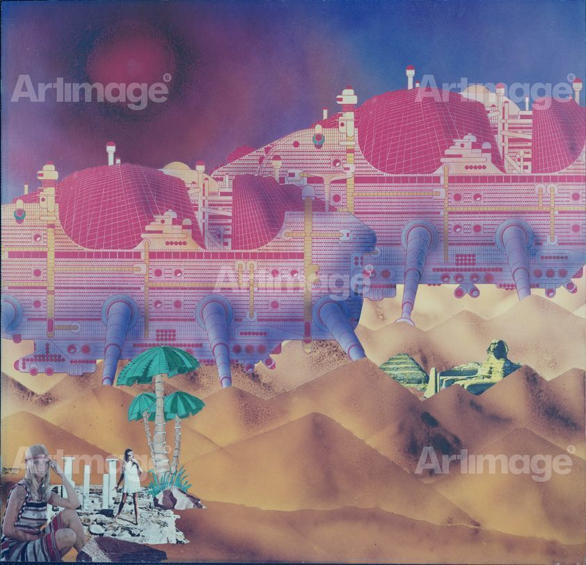 Cities: Moving in Desert [Left panel, Sheet No 1 of 2], 1964