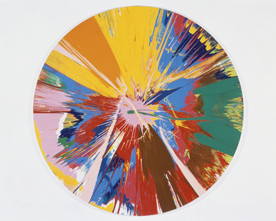 Beautiful, shattering, slashing, violent, pinky, hacking, sp... By Damien Hirst