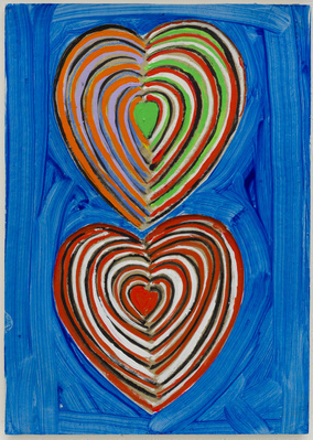 Two Hearts, c. 1990 By Terry Frost