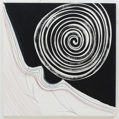 Black and White Spiral, 2003 By Terry Frost