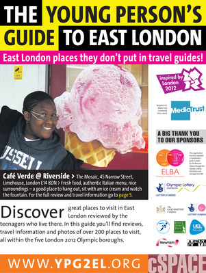 The Young Person's Guide to East London. Front cover, 2012