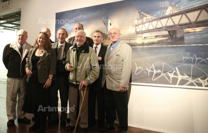 Enlarged version of ActiveEnergy:Geezerpower, The Geezers and artist at The Not Quite Yet Exhibition, 2008