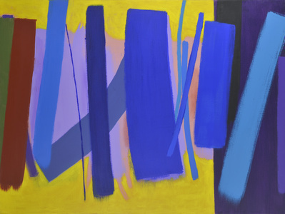 Five Blues, 2000 By Wilhelmina Barns-Graham