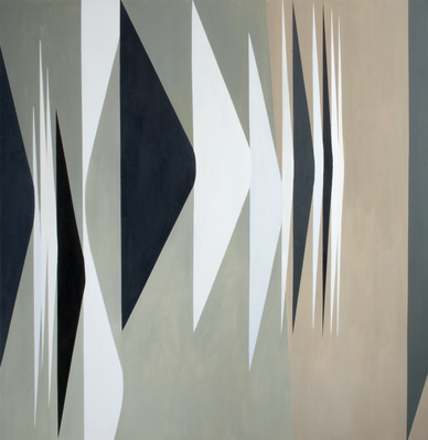 Expanding Forms Black and White, 1980 By Wilhelmina Barns-Graham