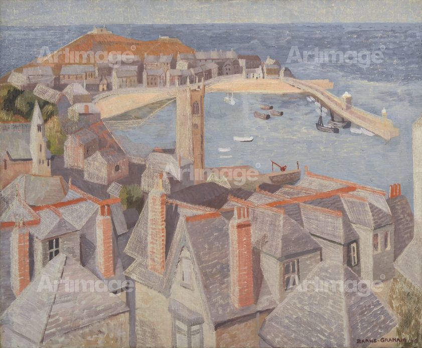 Enlarged version of View of St Ives, 1940