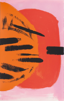 Orange and Red on Pink, 1991 By Wilhelmina Barns-Graham