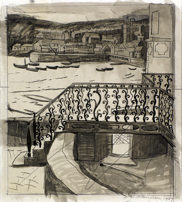Railings St Ives, 1947 By Wilhelmina Barns-Graham