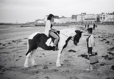 Tracey Emin with Abigail Lane while making Riding for a Fall...