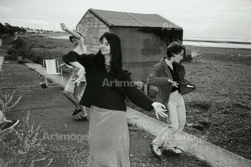 Enlarged version of Tracey Emin, Gillian Wearing and Georgina Starr, Whitstable, 1996