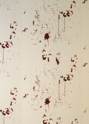 Bloody wallpaper, 1995 (detail)