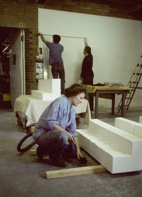 Rachel Whiteread, Studio, Laburnum Street, London, 1997 By Johnnie Shand Kydd