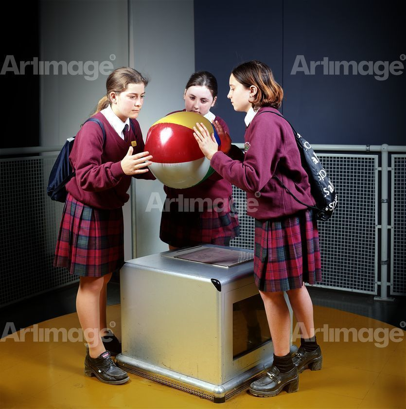 Enlarged version of Girls with Ball, The Science Museum, 2000