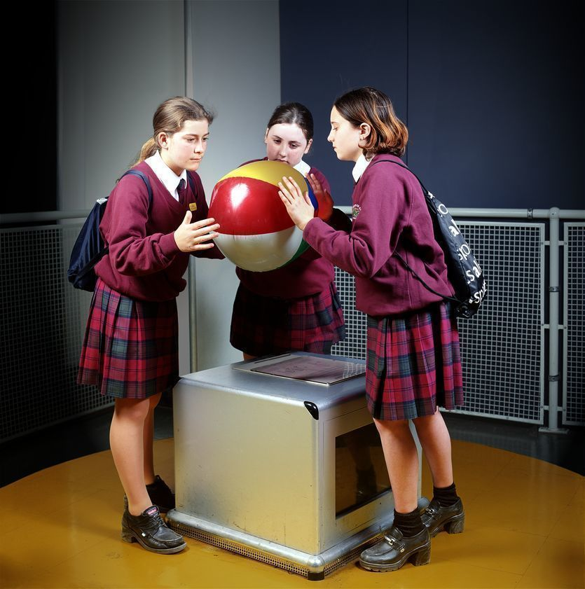 Girls with Ball, The Science Museum, 2000