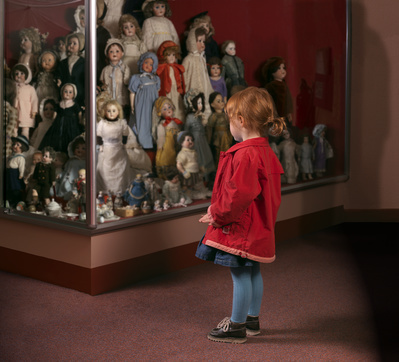 Case of Dolls, Museum of Childhood, Edinburgh, 2007 By Wendy McMurdo