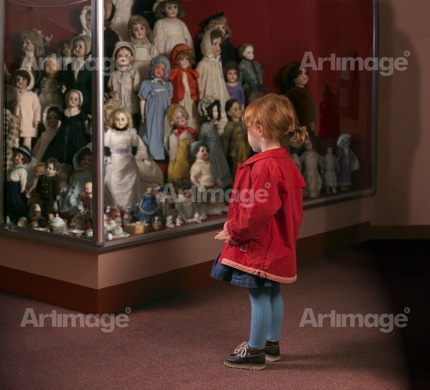 Enlarged version of Case of Dolls, Museum of Childhood, Edinburgh, 2007