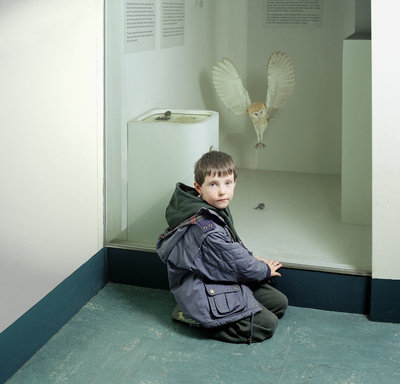 Martin with Owl, Royal Museum of Scotland, Edinburgh, 1999