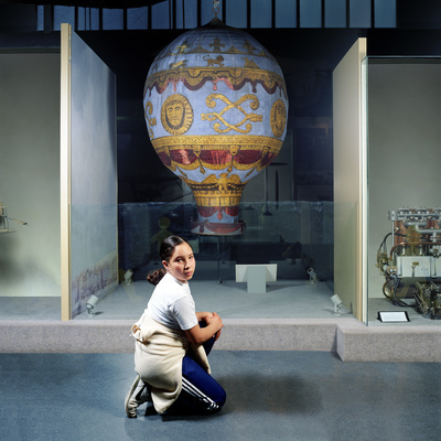 Girl with Hot Air Balloon, The Science Museum, London, 2000 By Wendy McMurdo