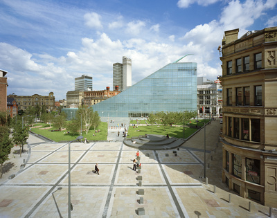 Urbis and Cathedral Gardens, Manchester, 2002 By John Davies