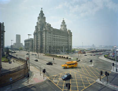 Blitz Memorial and Liver Building, Liverpool, 2003 By John Davies