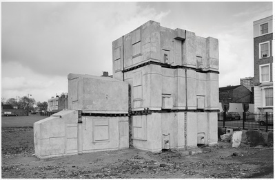 Rachel Whiteread's House 6, London, 1994 By John Davies