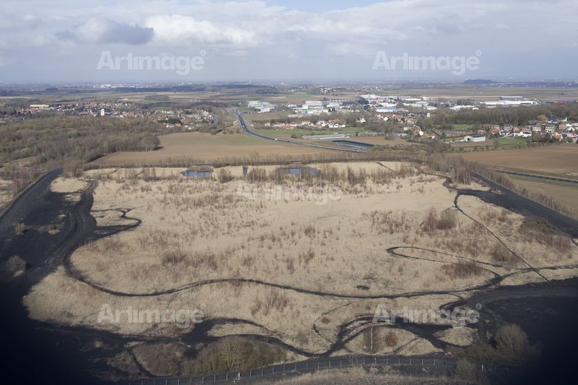 Enlarged version of From Terril 3 & Motorbike tracks, Haillicourt, France, 2014