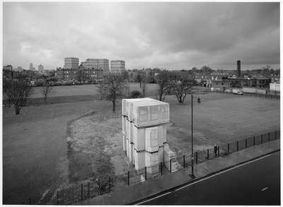 Rachel Whiteread's House 3b, London, 1993 By John Davies