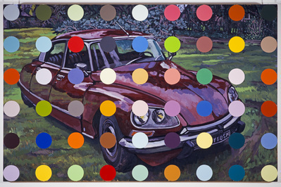 Spots Car Painting, 1998 By Damien Hirst