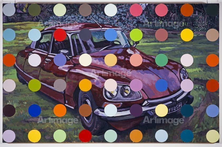 Enlarged version of Spots Car Painting, 1998