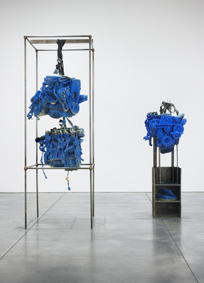 Untitled (Installation View, left), 2013 (Luhring Augustine,... By Roger Hiorns