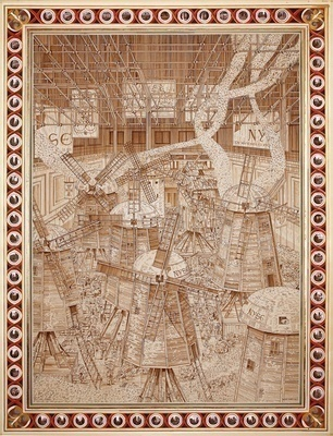 NYSE Windmills, 2009 By Adam Dant