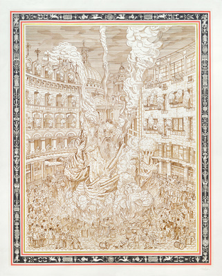 Effigy at Ludgate Circus, 2015 By Adam Dant