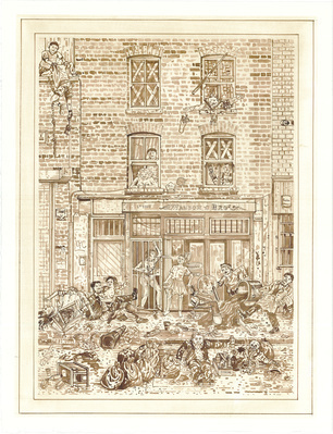 A Redchurch Street Rakes Progress 2, 2009 By Adam Dant